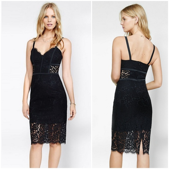 0994c3d37d Express Piped Lace Sheath Dress-Black 🖤